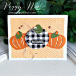 Handmade card using the Pretty Pumpkins Bundle by Stampin