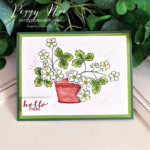 Handmade hello card made with the Sweet Strawberry Bundle by Stampin