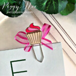 Handmade paperclip/bookmark made with the Sweets & Treats Stamp Set from Stampin