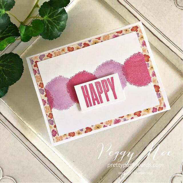 Happy Textures & Frames Stampin' Up! Peggy Noe #textures&frames #happycard #peggynoe #prettypapercards #stampinup #stampingup #christmascheerdies #textures&framesstampset #biggestwish