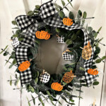 Handmade Fall Wreath made with Stampin