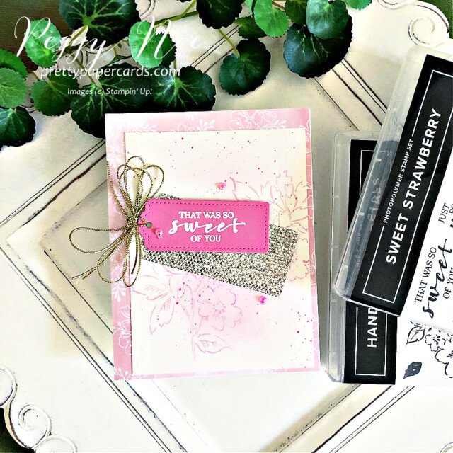 """Handmade """"sweet"""" card using the Hand Penned stamp set by Stampin' Up! made by Peggy Noe of Pretty Paper Cards #handpenned #handpennedcard #peggynoe #prettypapercards #sweetcard"""