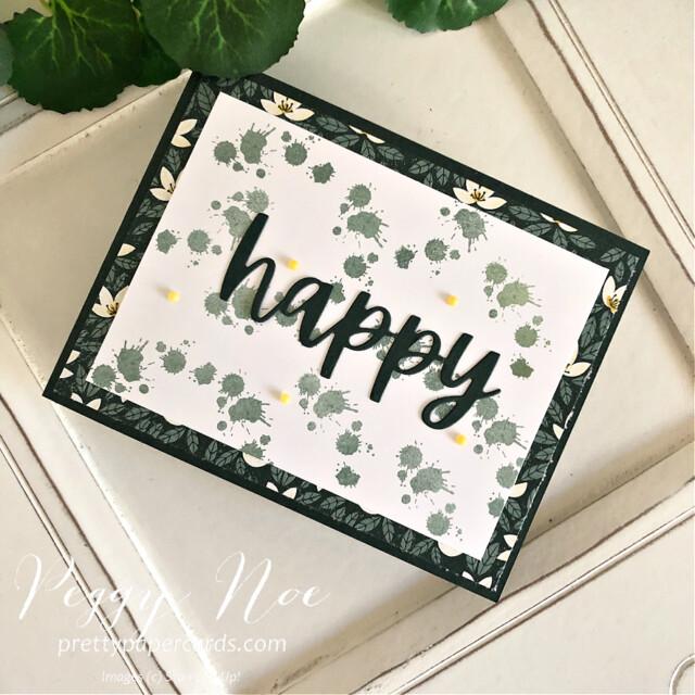 Happy Textures & Frames Stampin' Up! Peggy Noe #textures&frames #happycard #peggynoe #prettypapercards #stampinup #stampingup #christmascheerdies #textures&framesstampset