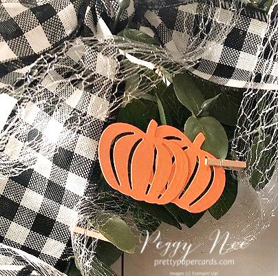 Pretty Pumpkins decor Stampin' Up! Peggy Noe