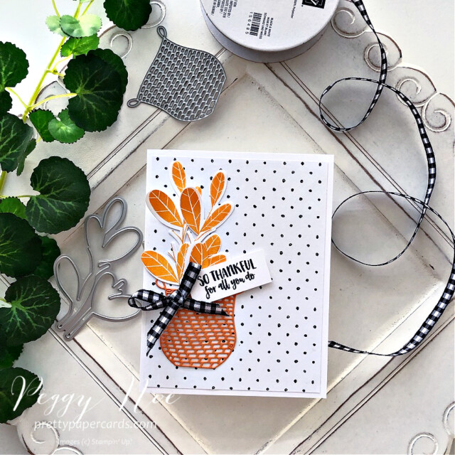So thankful card made with the Season's Blessings stamp set by Stampin' Up! created by Peggy Noe of prettypapercards.com #seasonsblessings #sothankfulcard #stampinup #stampingup #peggynoe #prettypapercards