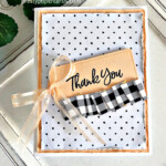Handmade Thank You Card made with the Tailored Tags Dies from Stampin