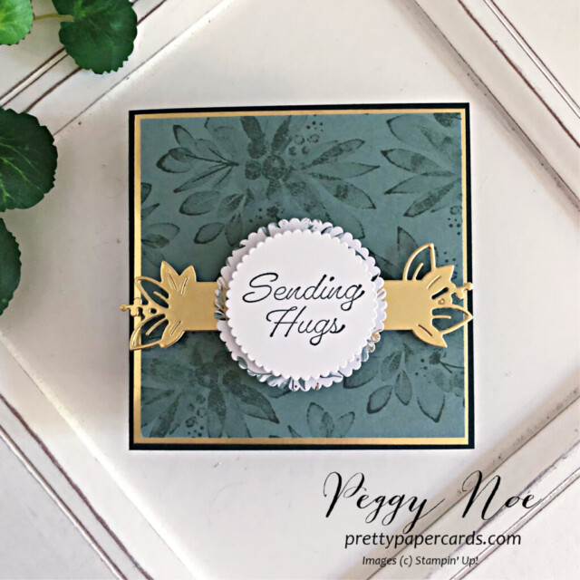 Handmade Card using the Eden's Garden Collection by Stampin' Up! designed by Peggy Noe of Pretty Paper Cards #edensgarden #peggynoe #prettypapercards #stampinup #stampingup #softsucculent #squarecard