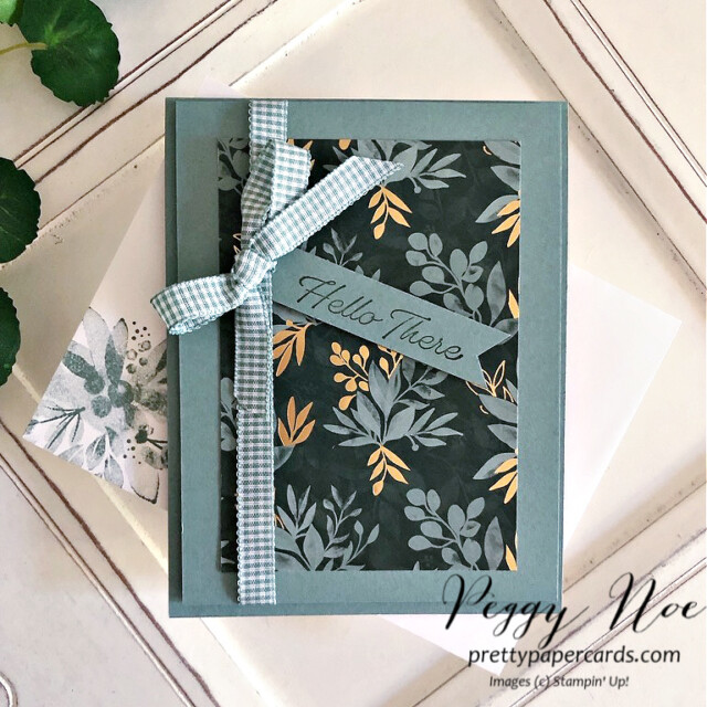 Handmade Card using the Eden's Garden Collection by Stampin' Up! designed by Peggy Noe of Pretty Paper Cards #edensgarden #peggynoe #prettypapercards #stampinup #stampingup #softsucculent
