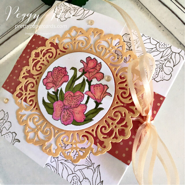 Handmade all-occasion card made with the Encircled in Friendship Bundle by Stampin' Up! created by Peggy Noe of prettypapercards.com #encircledinfriendship #encircledinfriendshipbundle #encircledinfriendshipstampset #encircledinbeautydies #stampinup #stampingup #peggynoe #prettypapercards #prettypapercards.com #circledoily