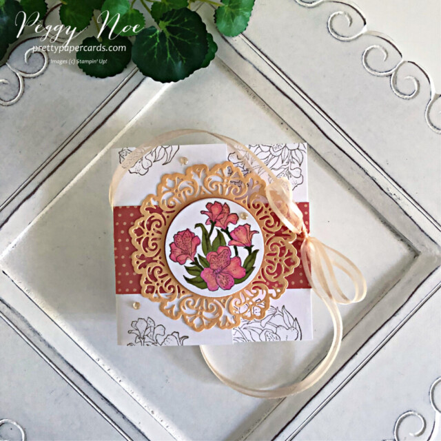 Handmade all-occasion card made with the Encircled in Friendship Bundle by Stampin' Up! created by Peggy Noe of prettypapercards.com #encircledinfriendship #encircledinfriendshipbundle #encircledinfriendshipstampset #encircledinbeautydies #stampinup #stampingup #peggynoe #prettypapercards #prettypapercards.com #circledoily #encircledinfriendship #funfoldcard